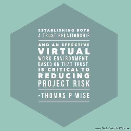 How To Build Trust In Virtual Teams Book Review Tips Girl S Guide To Project Management In 2020 Trust In Relationships Trust Project Management Templates