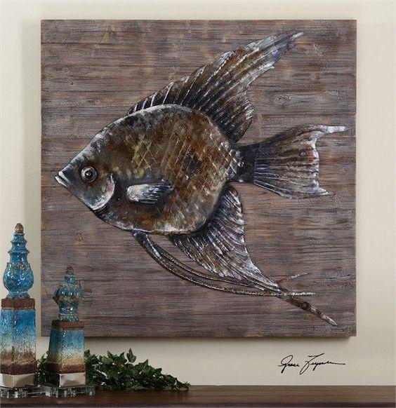Uttermost Iron Fish Wall Art (04273)