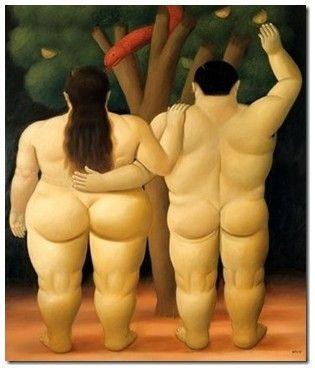 Adan y Eva - Botero - 1998