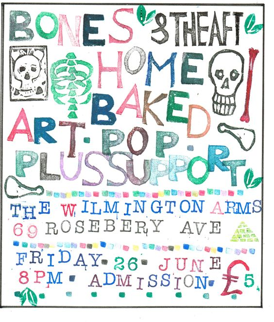 This is a rejected design for a Bones & The Aft gig invite card.....