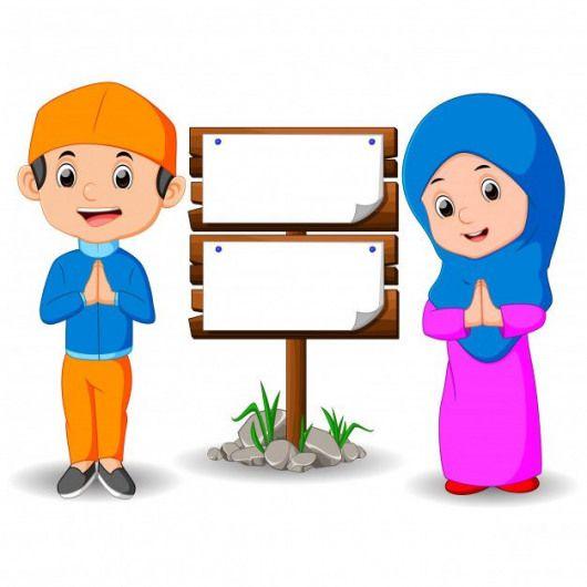 kartun anak muslim premium vector hijab hijab vector kartun animasi anak kartun anak muslim premium vector
