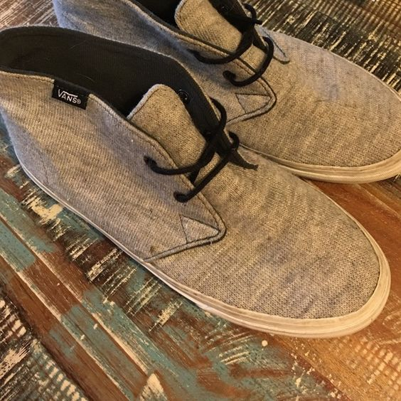 Vans slipons size 7 Light gray with laces. Size 7 Vans Shoes Sneakers