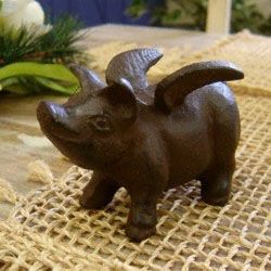 Baby Flying Pig Doorstop