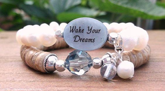 Wake Your Dreams Inspiration Bracelet Personal by BlueStoneRiver, $33.95
