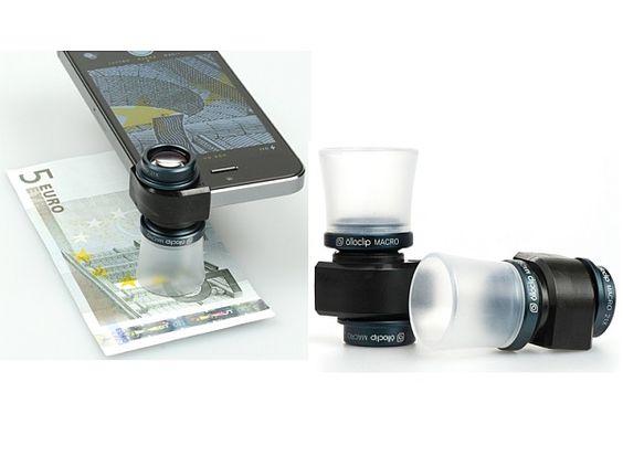 iPhoneカメラに装着するマクロズームレンズ「Olloclip」 21倍ズームが可能