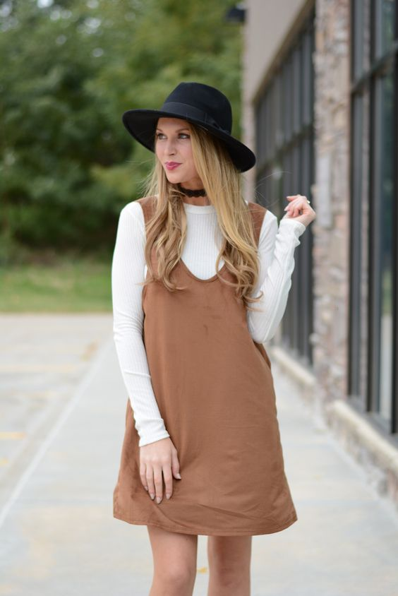 Chic Layered Suede Dress