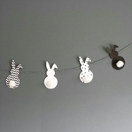 Easter I Ostern, Osterdeko, Osterhasen, Girlande, Monique van Mourik: