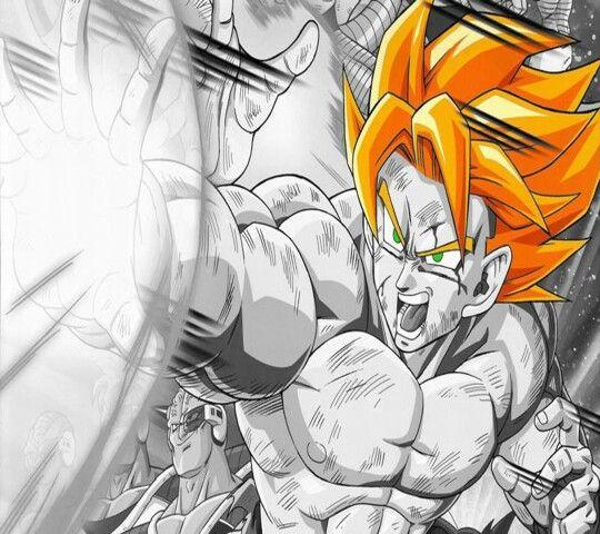 Goku lanzando un gran ataque