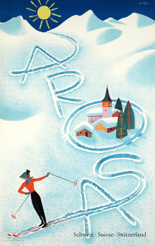 Arosa, Suisse Switzerland Schweiz, circa 1952 by Donald Brun.: