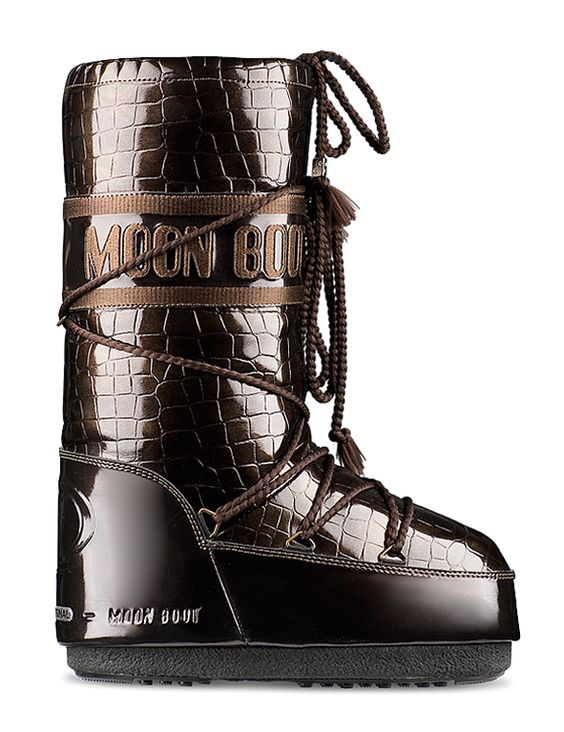 Brown crocodile Moon Boots!! xxx