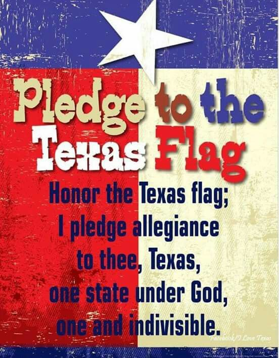 Pledge To The Texas Flag Texas Flags Pledge Texas History