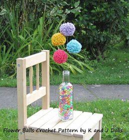 Amigurumi en français de K and J Dolls: Fleurs boules, Patron crochet gratuit
