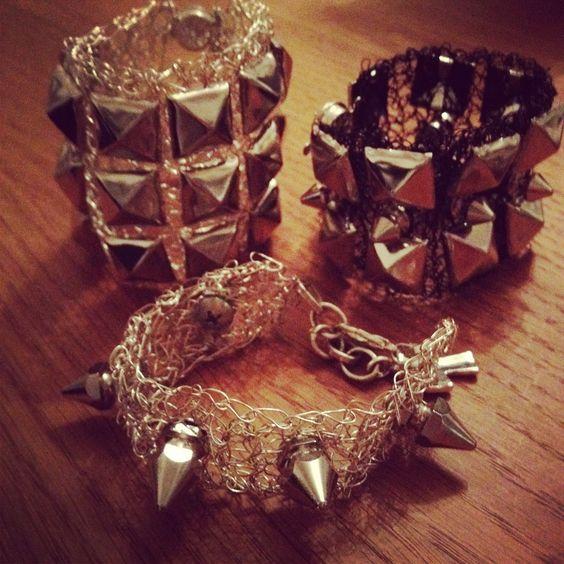 Knitted bracelets Rockstyle www.barabella.se: