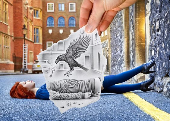 Ben Heine's Awesome 'Pencil vs. Camera' Project: Art Photography, Art Inspiration, Pencil Drawings, Ben Heine