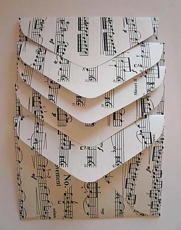 sheet music envelopes
