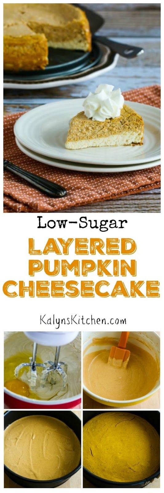 Low-Sugar (or Sugar-Free) Layered Pumpkin Cheesecake | Cheesecake ...