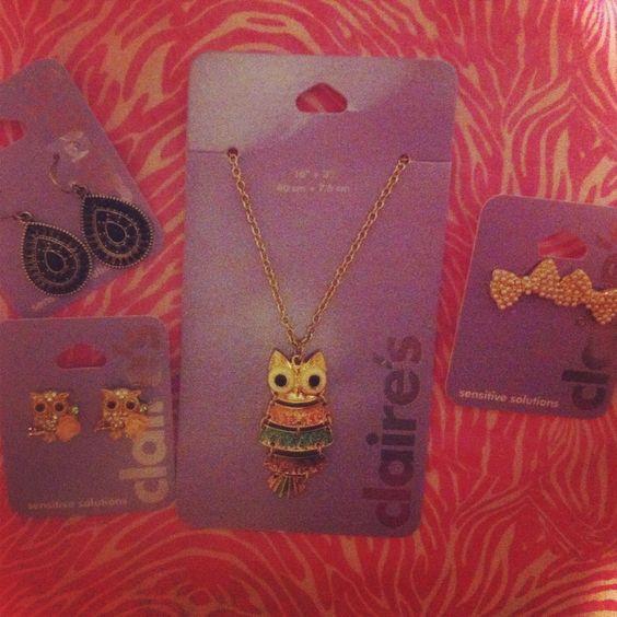 Jewelry accesories Owls