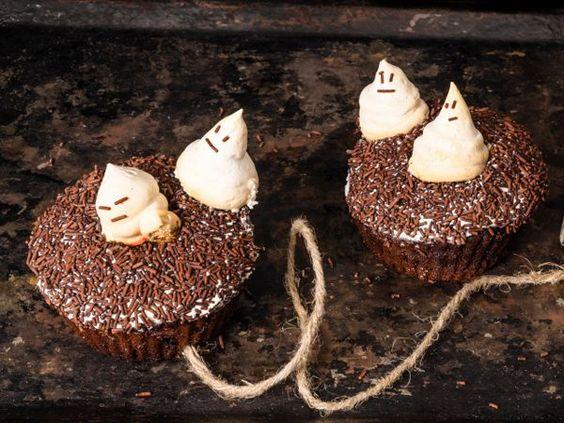Meringues fantôme pour Halloween
