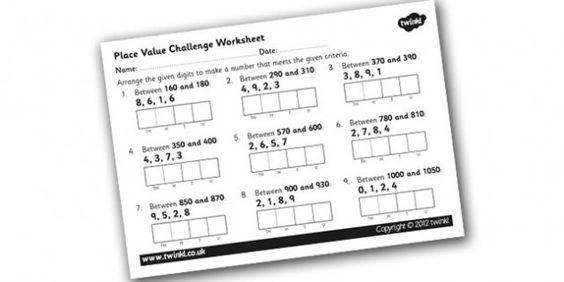 math math worksheets and place value worksheets on pinterest. Black Bedroom Furniture Sets. Home Design Ideas