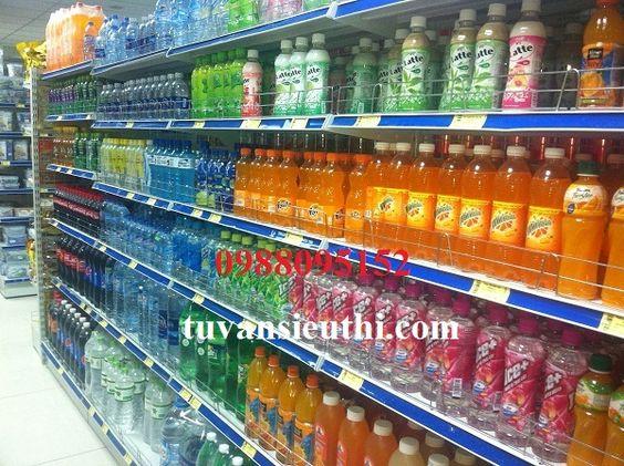 Lắp kệ siêu thị cho cửa hàng tạp hóa