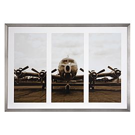 Simple office decor and artworks on pinterest - Vintage airplane triptych ...