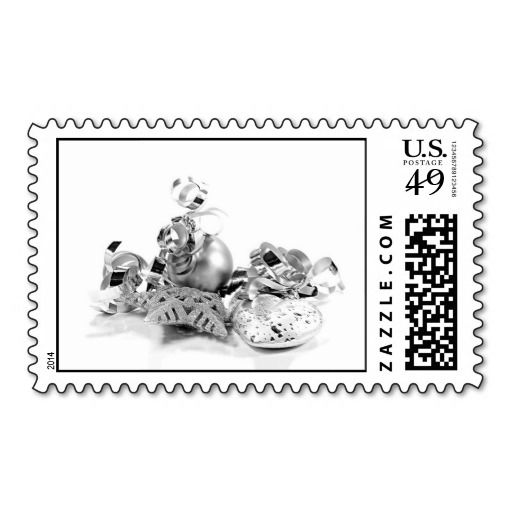 Silver Christmas Postage #christmas #xmas #silver for you at www.zazzle.com/superdumb