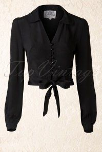 The Seamstress of Bloomsbury Black Clarise Blouse 112 10 1412320140922 008W