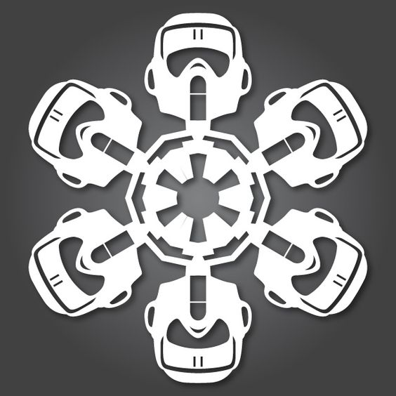 Star Wars Snowflakes, totally awesome!