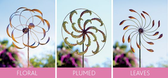 Iron Wind Spinners - instant garden decoration.
