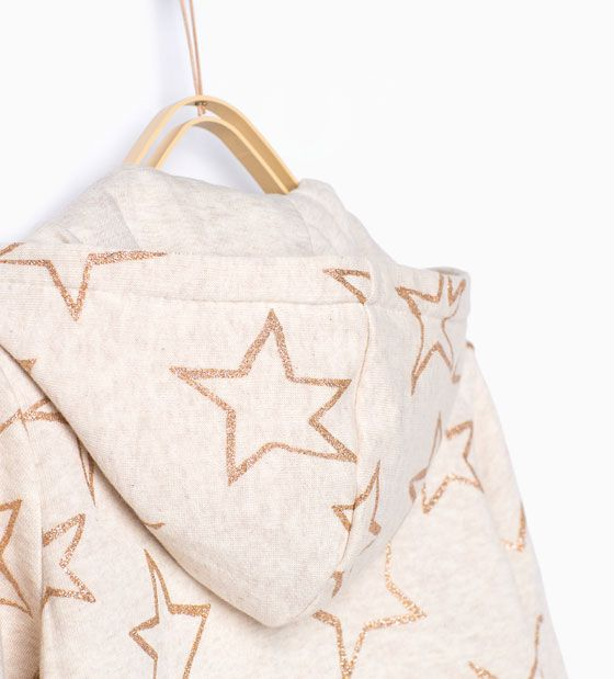 ZARA - KINDEREN - Basic sweatshirt met sterrenprint