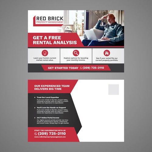 Design A Flyer For My Property Management Company Postcard Flyer Or Print Contest Design Postcard Flyer Property Management Management Company Contest Design