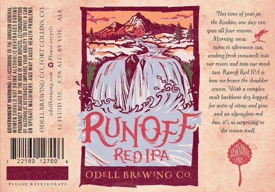 @Odell Brewing Co. Releases Runoff Red IPA. #beer #craftbeer