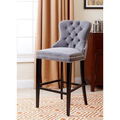 "House of Hampton Barnt Green 30"" Bar Stool Upholstery:"