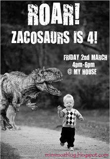 minimoz: Dino Invitations - Dinosaur Party