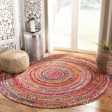 Safavieh Braided Winifred Colorful Braided Area Rug Rugs Area Rugs Beige Area Rugs