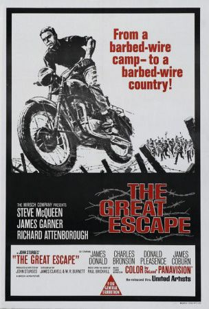 The Great Escape (1963) McQueen did most of the motorcycle work (including playing a German rider), but the big leap was done by stuntman Bud Ekins.