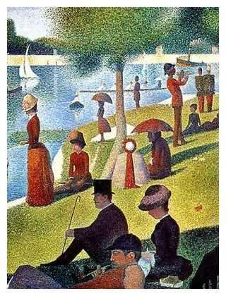 GEORGES SEURAT(1859-1891) Detail: 'A Sunday Afternoon on the Île de la Grande Jatte', 1884 (oil on canvas)