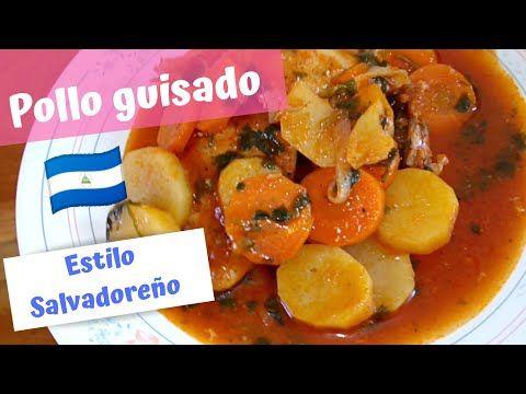 Pollo Guisado Salvadoreño Receta Fácilkarol By
