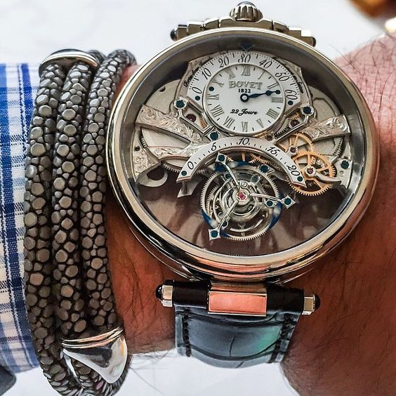 """A brand new release. The crazy ""Braveheart"" by @Bovet1822 with 22 day powers reserve tourbillon - this piece consists of 6 new patents including a double…"""