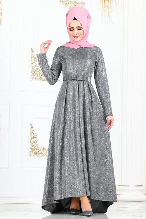 Modaselvim Abiye Simli Kuyruklu Abiye 2147ms212 Gumus The Dress Elbise Modelleri Elbiseler
