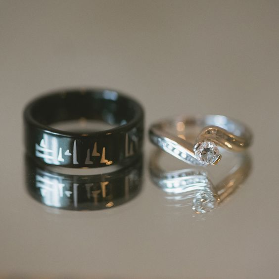skyrim inspired wedding band quot now and forever quot in dovah