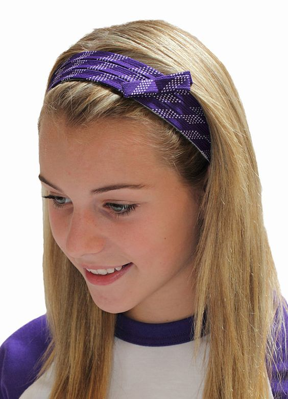 Lace your hair back with our fun hockey lace headbands! We sew real waxed hockey laces to polar fleece to create our sporty headbands. The fleece