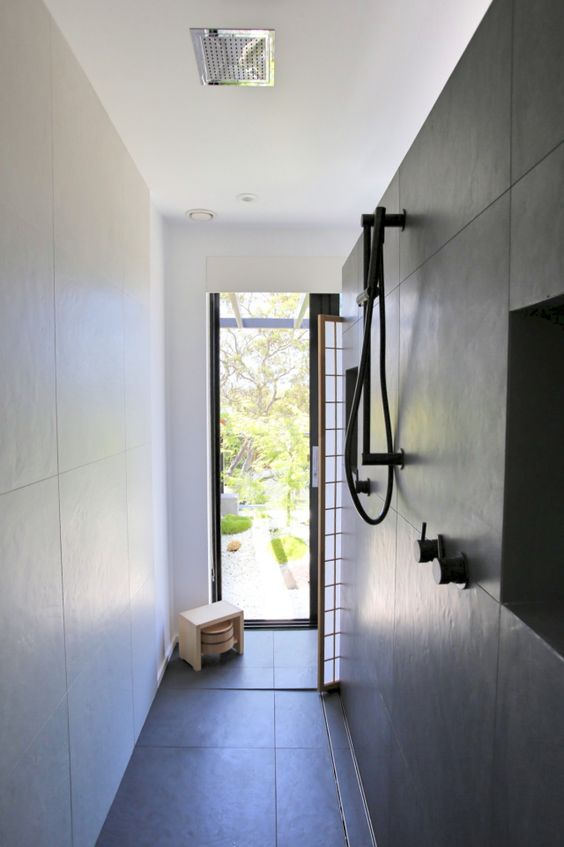 Shower area in a Japanese Style bathroom Bathe Pinterest