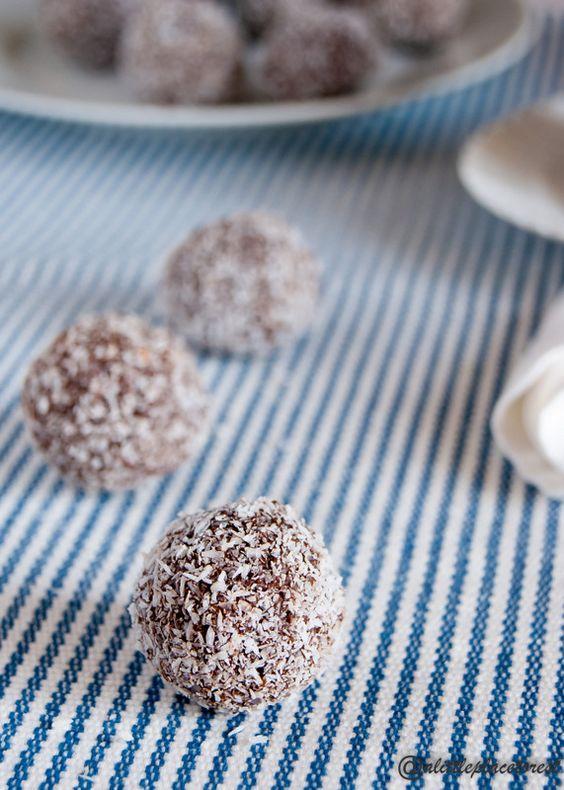 tartufi cocco e cioccolato - coconut&chocolate truffles