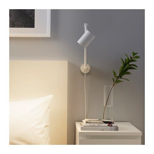 Nymane Work Wall Lamp White Wall Lamp Plug In Wall Lights Wall Lamps Bedroom