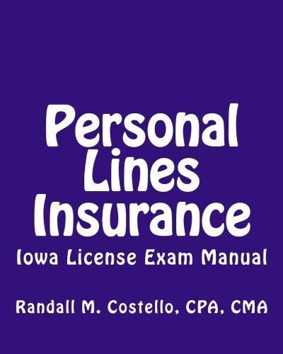 Pdf Download Personal Lines Insurance Iowa License Exam Manual