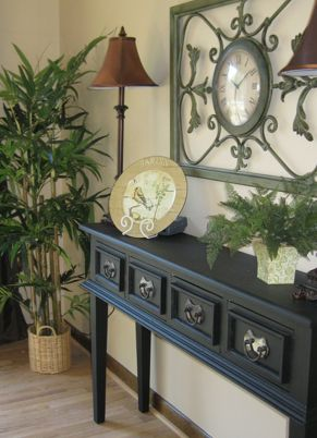 "12"" deep console table - can squeeze into almost ANY room"