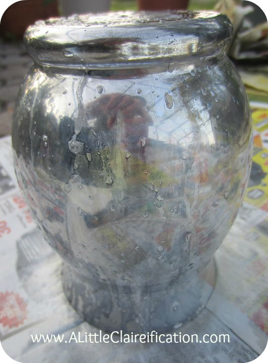 DIY Mercury Glass with ALittleClaireification.com #DIY #MercuryGlass #ModPodge