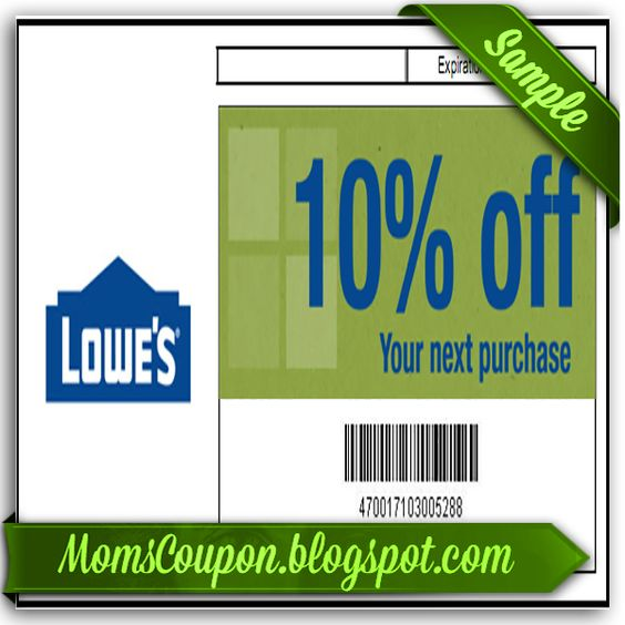 Lowes printable coupon 10 off March 2015