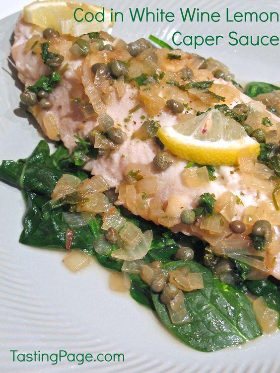 Pasta With Tuna And Capers In White Wine Sauce Recipe — Dishmaps